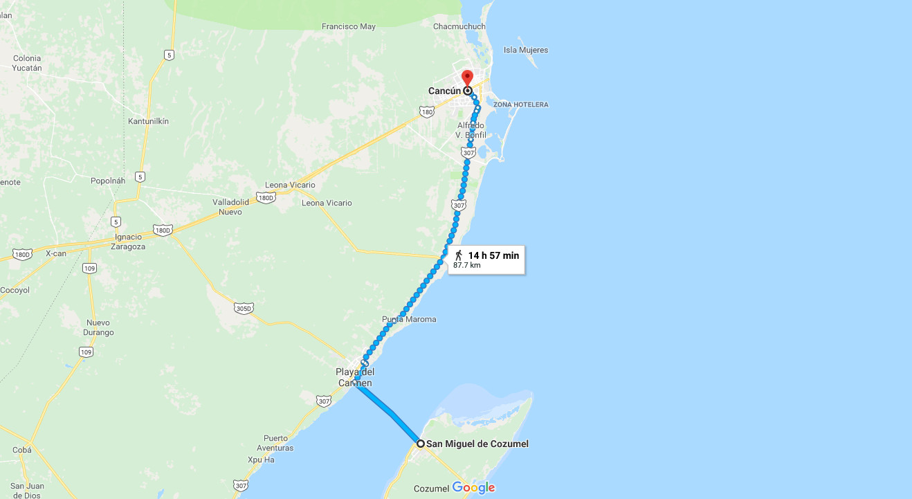 How to get from Cancun to Cozumel