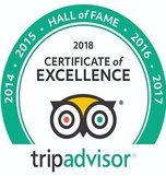 TripAdvisor Hall of Fame Certificate 2018