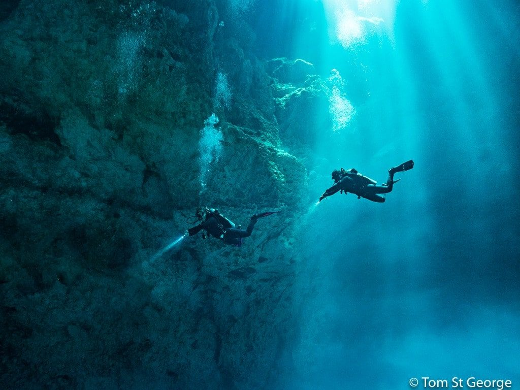 Cenote Diving Photography