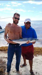 Fishing catch near Tulum