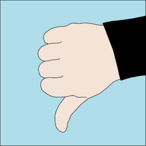 Dive hand signal Descend