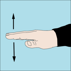 Dive hand signal Slow down