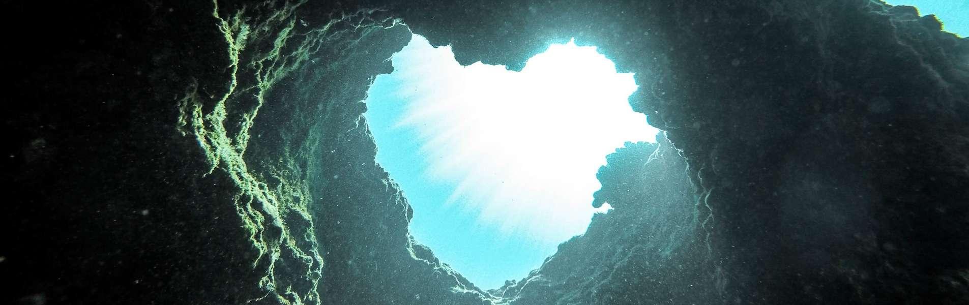 Heart Shaped underwater rocks