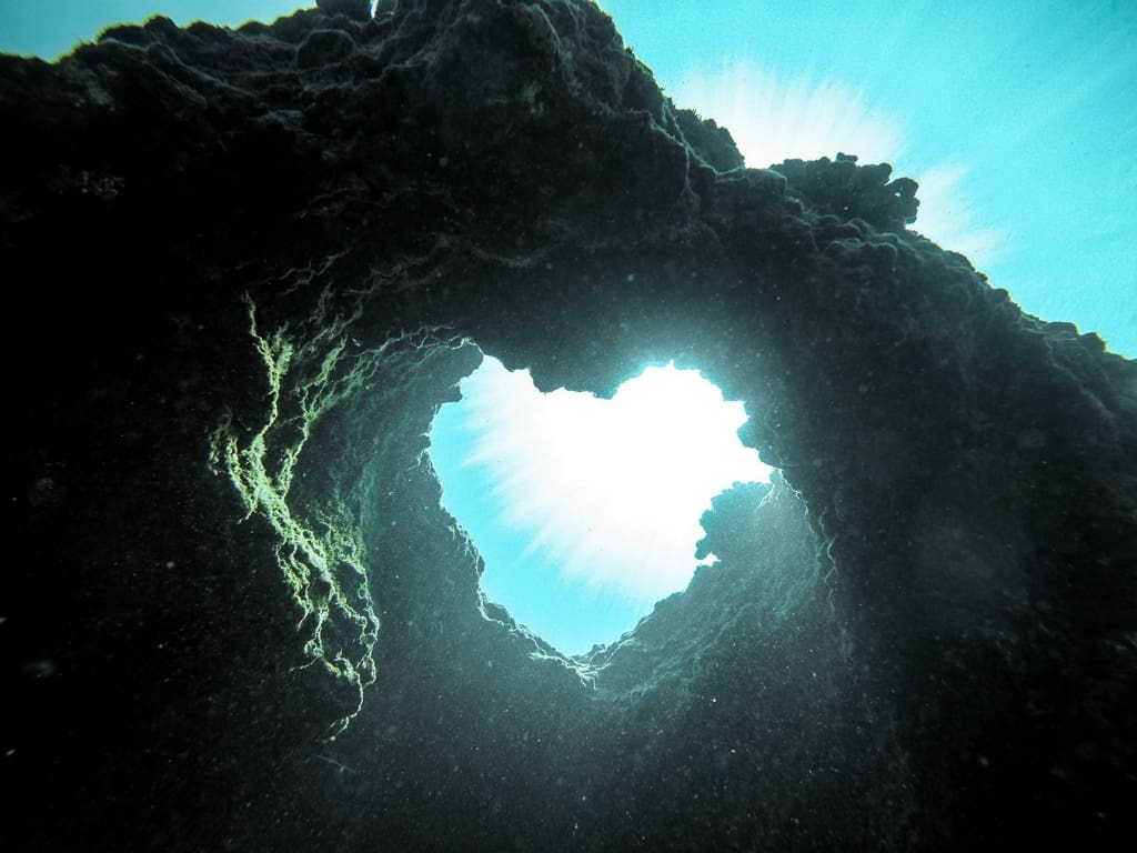 Heart Shaped underwater rocks