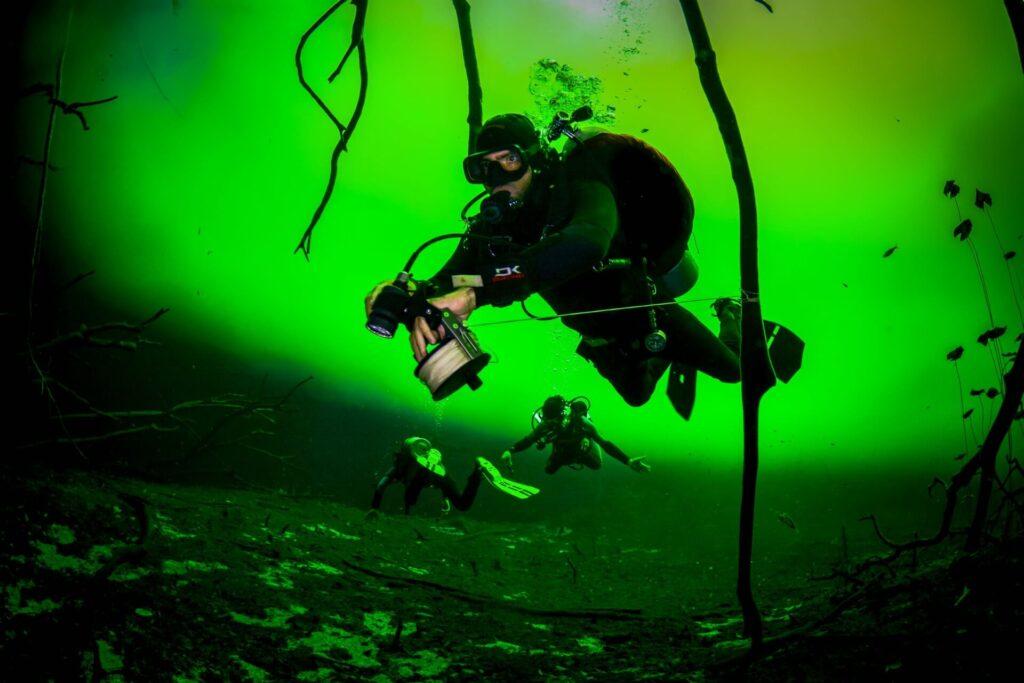 diver in Car Wash Cenote